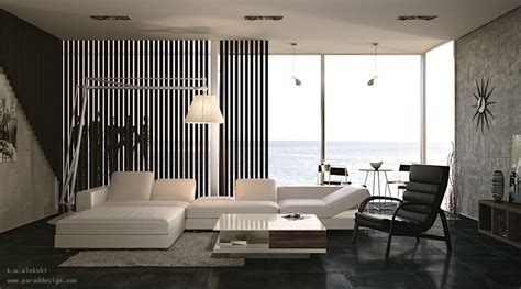 black and white interior design living rooms with great views