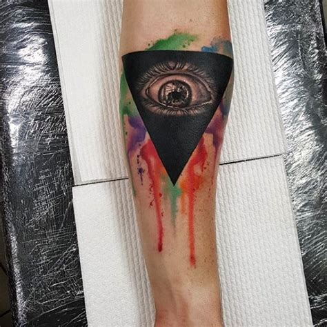 all seeing eye wrist tattoo all seeing eye triangle on wrist ideas t wrist