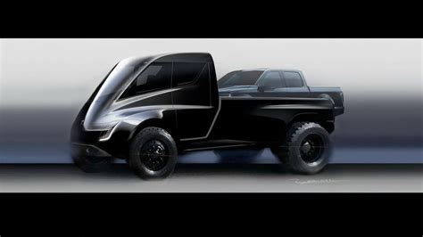 tesla electric pickup truck this tesla pickup truck concept looks ridiculous