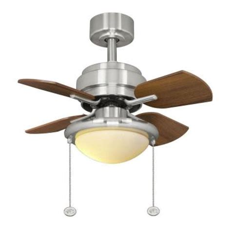 hton bay metarie 24 in brushed nickel ceiling fan