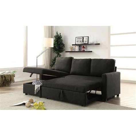 sectional sofa sleeper with storage hiltons sectional sofa with sleeper and storage