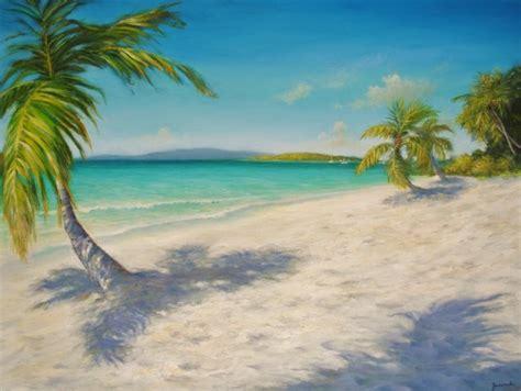 Seashore Home Decor by Original Caribbean Seascape Painting Solomon Beach