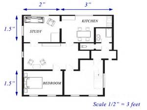 Floor Plans To Scale Scale In Two Dimensions Ck 12 Foundation