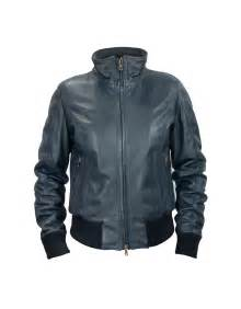 blue motorbike jacket forzieri s blue leather motorcycle jacket in blue lyst