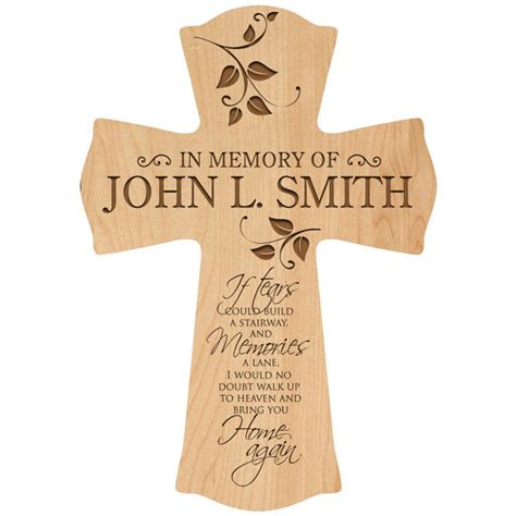 in loving memory personalized wall cross in memory of dad