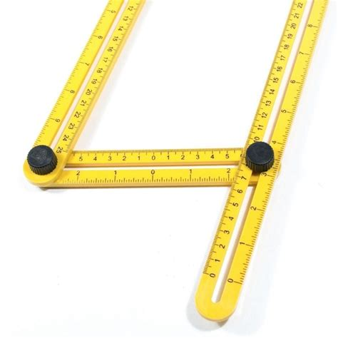 penggaris 4 sudut four sided folding ruler yellow jakartanotebook