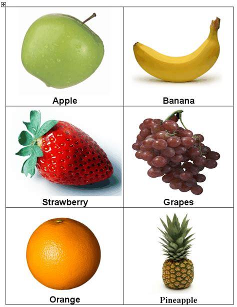 vegetable flashcards printable fruit