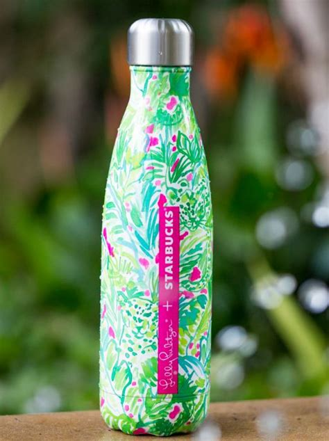 pulitzer swell bottle lilly pulitzer starbucks limited edition swell bottle nwt