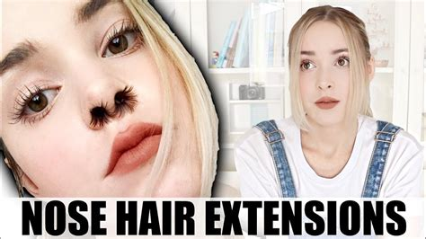 how to hide nostril hair i tried nose hair extensions instagram beauty trends