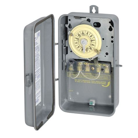 how to set light timer intermatic intermatic t1004r series 40 amp 208 277 volt dpst 24 hour