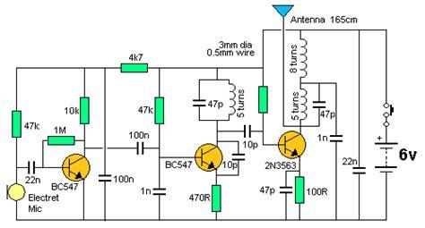 three transistor fm transmitter ultima fm bug 1km transmitter images frompo
