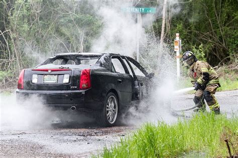 ledbetter lane of lights cadillac destroyed in fire this afternoon driver