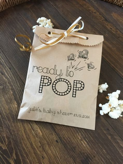 Where To Hold A Baby Shower by Baby Shower Ready To Pop Favor Bags To Hold