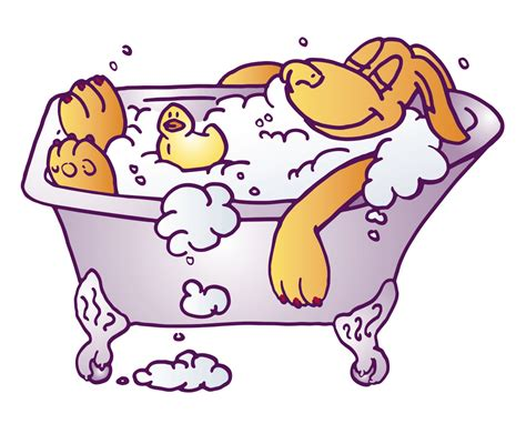 two dogs in a bathtub dog in bathtub clipart