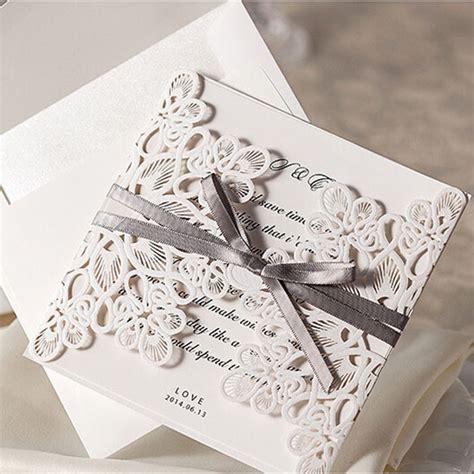 template undangan pernikahan elegan elegan flora desain putih undangan pernikahan renda