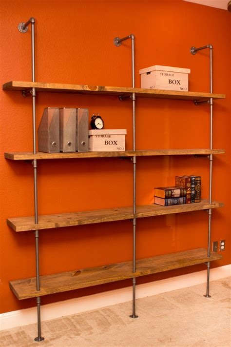 industrial modern pipe shelving unit furniture by