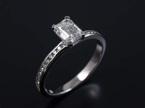 emerald and asscher cut engagement rings gallery