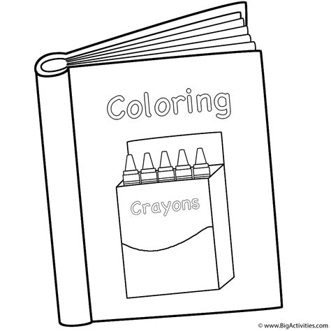 coloring pictures of books coloring book with box of crayons coloring page 100th