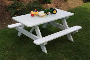 yellow pine kid s picnic table from dutchcrafters