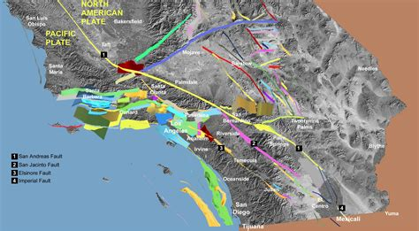 california map earthquake faults fault san diego orange los angeles counties could