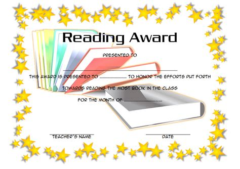free printable star reader certificates famous reading certificate templates contemporary
