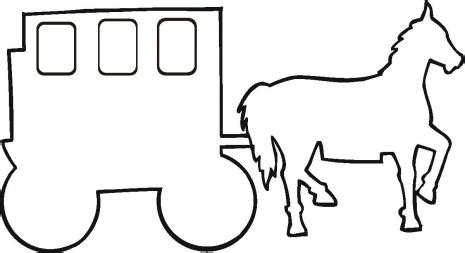 Outline Of A Carriage by Carriage Outline Coloring Page Coloring Clipart Best Clipart Best