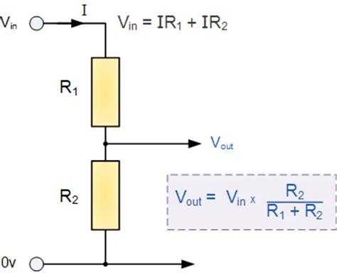 resistors in series voltage divider resistors in series