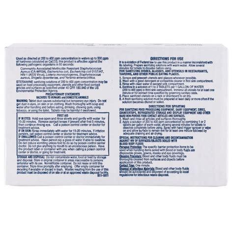 printable barbicide label edwards councilor s150e48 steramine sanitizer tablets