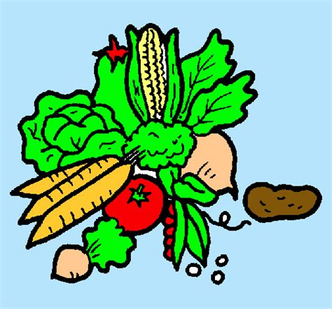 dibujo alimentos dibujo de verduras pintado por alimentos en dibujos net el