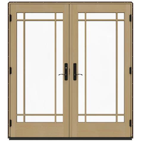jeld wen patio doors reviews jeld wen 72 in x 80 in w 4500 chocolate prehung