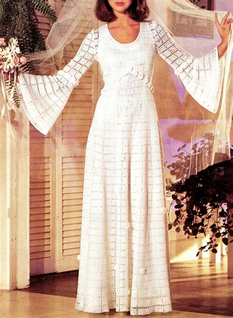 vintage crochet wedding dress  pattern