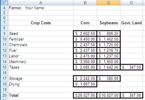 Crop Calendars Go Digital: Using Spreadsheets in