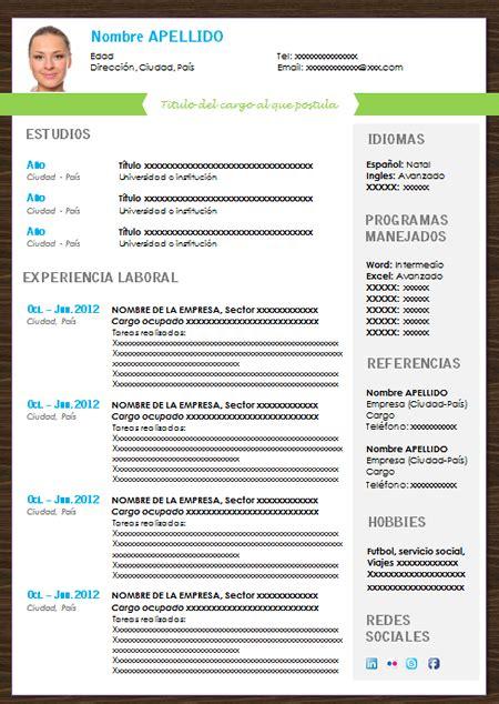 Modelo Curriculum Word 2007 descargar modelo curriculum vitae word 2007 socialrockefeller gq