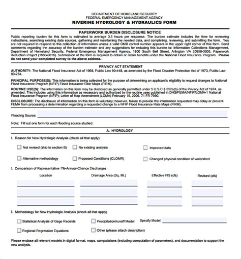 fema application form 8 download free documents in pdf