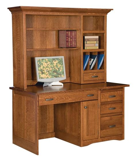 Mission Desk With Hutch Mission Desk With Optional Hutch From Dutchcrafters Amish Furniture