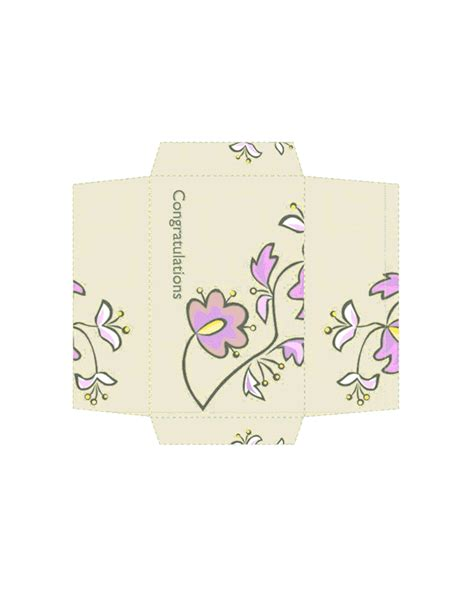 Money Envelopes Templates by Money Envelope Floral Design Free Envelope