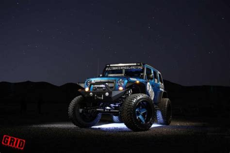matte light blue jeep grid road wheel tire jeep wrangler jks