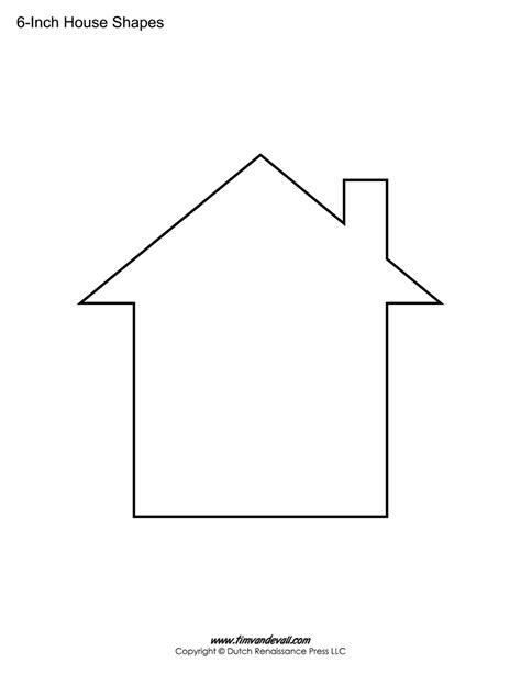 house shape tim van de vall comics printables for kids