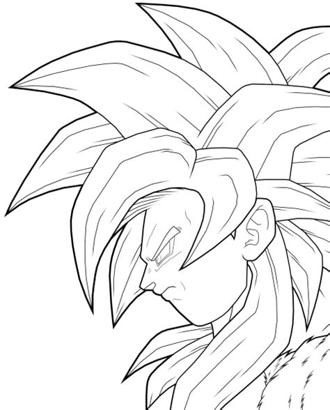 goku ss3 coloring pages free dbz goku ssj3 coloring pages