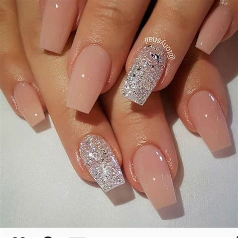 natural acrylic nail designs  summer  natural