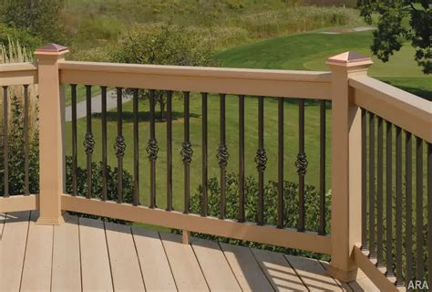 outdoor banisters and railings decor tips wrought iron porch railing for deck railing