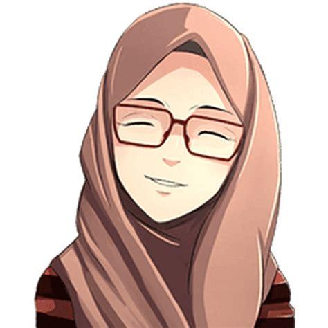 animasi hijab bertopi gambar islami