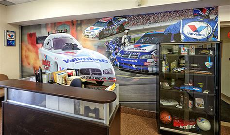 race car wall mural wall mural design for valvoline reception boardroom bcs