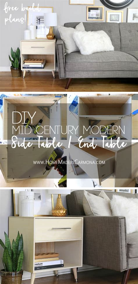 free diy furniture plans to build an mid century modern credenza the design confidential diy mid century modern side table home made by carmona