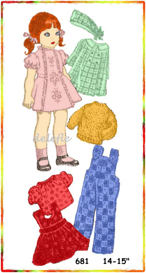 pattern for doll clothes 15 inch 681 vintage doll clothes pattern 14 15 inch wardrobe betsy