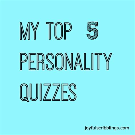 best personality quizzes top 5 personality quizzes joyful scribblings