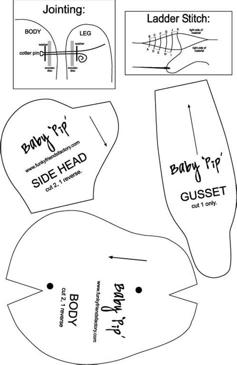 cut out teddy template baby pip teddy sewing patterns and ideas