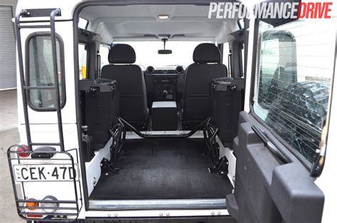 land rover defender interior back land rover defender 90 review performancedrive