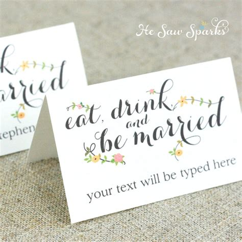 48 Place Card Template by Editable Place Card Template Printable Diy