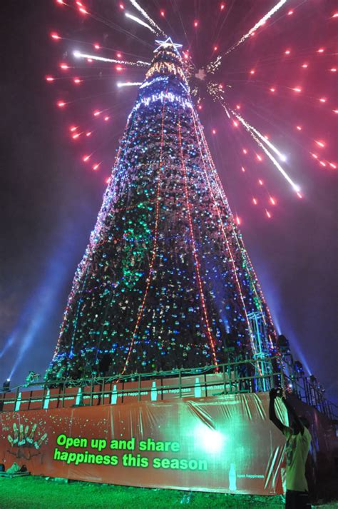 cocacola lights up the tallest christmas tree 1